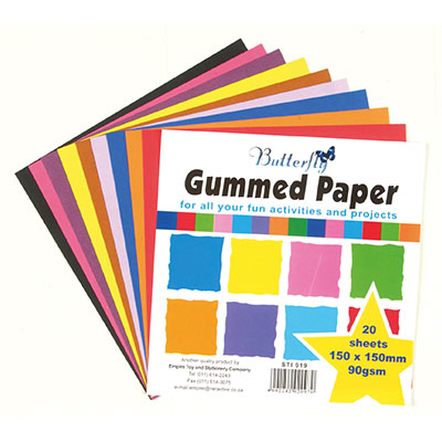 gummed paper Availability: in stock an environmentally friendly and re-pulpable gummed paper  tape the tape needs to be moistened to activate the adhesive available in 3.