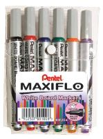 Pentel MAXIFLO WHITEBOARD  Markers  Wallet of 6