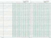Auditor's pad A4 4 cash column