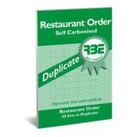RBE Restaurant Order Book  Duplicate  ( 5 per pack ) ref#F0157
