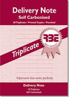 RBE A5 Delivery Book  Triplicate ref#F0058