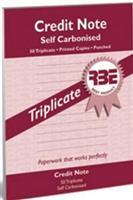 RBE A5 Credit Note Book  Triplicate ref#F0027