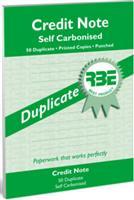 RBE A5 Credit Note Book  Duplicate ref#F0089
