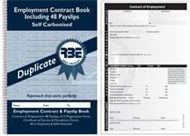 RBE A5 Payslip & Employment Contract Book  Duplicate ref#F4582
