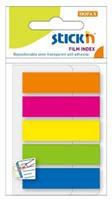 Film Index Flags ( 45 x 12mm )  5 Assorted  Colours