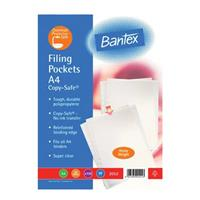 BANTEX 2052 PLASTIC POCKETS 120mic ( 100 per pack ) Heavy Duty