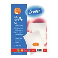 BANTEX 2052 PLASTIC POCKETS 120mic ( 100 per pack ) Heavy Duty