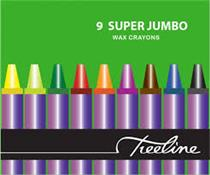 Wax Crayons Super Jumbo ( wallet of 9 )