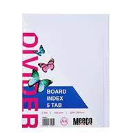 A4 Board Divider White 5 Cut