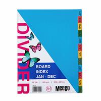 A4 Board Divider Rainbow ( Jan to Dec )