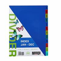A4 Pvc Divider Rainbow ( Jan to Dec )