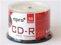 Epro CD-R  ( Spindle of  50 ) Printable Surface
