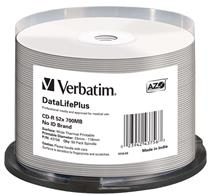 Verbatim CD-R  ( Spindle of  50 ) Printable Surface