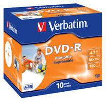 Verbatim DVD-R  ( 10 per box ) Printable Surface