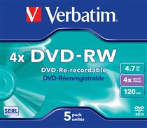 Verbatim DVD-RW  ( 5 per box ) Printable Surface