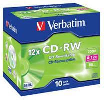 Verbatim CD-RW  ( 10 per box ) Printable Surface