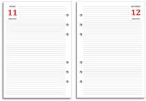 FiloFax Diary Refill - Page A Day -  A5 only