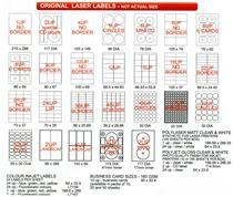 Redfern Standard  Laser Labels ( 100 A4 sheets per box )