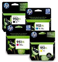 Hp 950xl Black & 951xl Colour Ink Cartridges