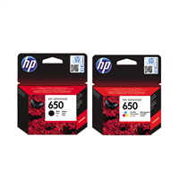 Hp 650 Black & Colour  Ink Cartridges