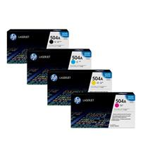 Hp ce250 Black & ce251,ce252,ce253 Colour Laser Cartridge #504A Range