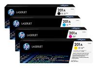 Hp cf400a Black &  cf401a cf402a cf403a Colour Laser Cartridges