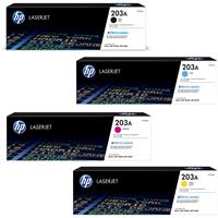 Hp cf540a Black &  cf541a/cf542a/cf543a Colour Laser Cartridges #203A