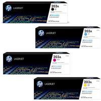 Hp cf540a Black &  cf541a cf542a cf543a Colour Laser Cartridges #203A