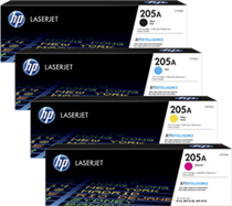 Hp cf530a Black &  cf531a cf532a cf533a Colour Laser Cartridges #205A