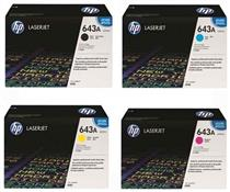Hp q5950a Black &  q5951a/q5952a/q5953a Colour Laser Cartridges #643a