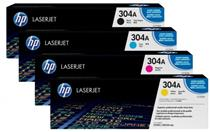 Hp cc530 Black & Colour cc531/cc532/cc533 Laser Cartridges Range #304A