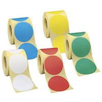32mm Round Colour Code Labels ( 100 aprox per box )