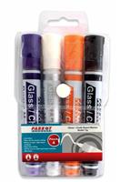 Parrot Glass Board Markers - 4 Assorted Colours